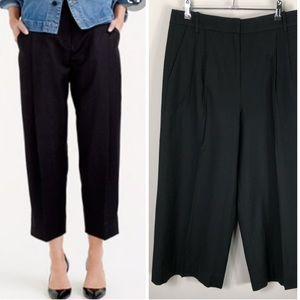 J. Crew Wool Flannel Wide Leg Crop Trouser Pants
